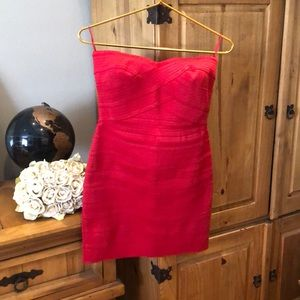 Express Red Tube Dress